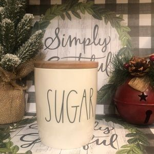 SUGAR canister with wooden lid